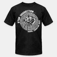 American Apparel t-shirt stop vivisection animal liberation now!