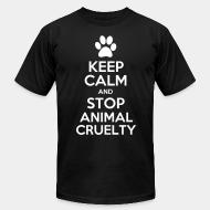 American Apparel t-shirt Keep calm and stop animal crielty