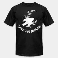 American Apparel t-shirt save the nature