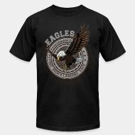 American Apparel t-shirt Eagle performance flying high landing safe