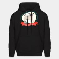 Hooded Sweatshirt Pug dog