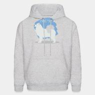 Hooded Sweatshirt Samoyed husky
