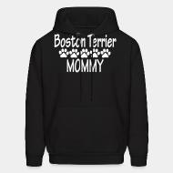 Hoodie Boston terrier mommy