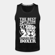 Tank top The best protection a girl can have is courage and a pitbull