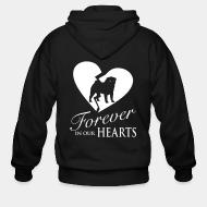 Zip hoodie Forever in your heart pug