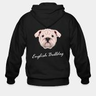 Zip hoodie english bulldog