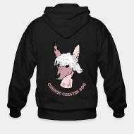 Zip hoodie Chinese Crested Dog