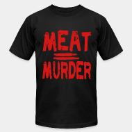 American Apparel t-shirt Meat = murder