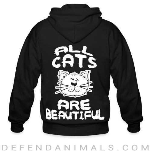 All cats are beautiful - Cats Lovers Zip hoodie