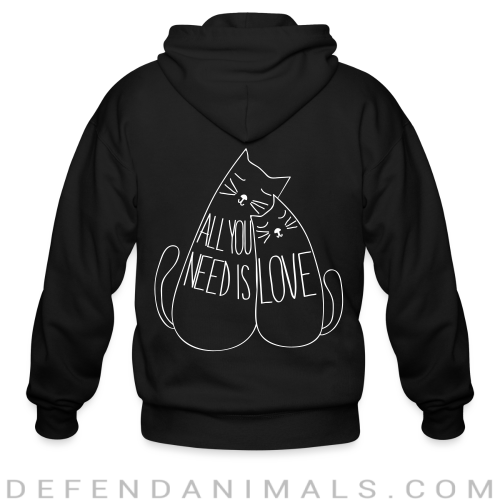All you need is love  - Cats Lovers Zip hoodie