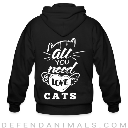 all you need love cats  - Cats Lovers Zip hoodie