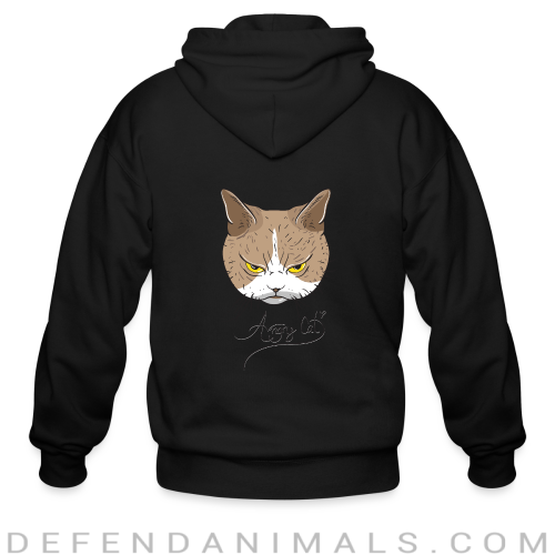 Angry Cat  - Cats Lovers Zip hoodie