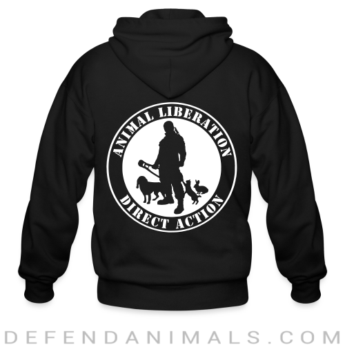 Animal liberation direct action - Animal Rights Activism Zip hoodie