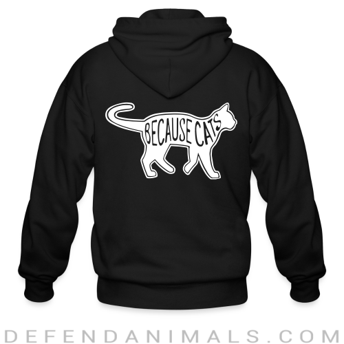 Because cats  - Cats Lovers Zip hoodie