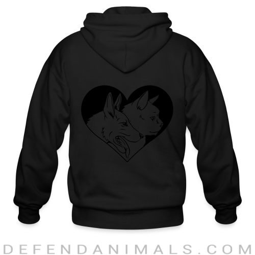 Cat and dog - Cats Lovers Zip hoodie