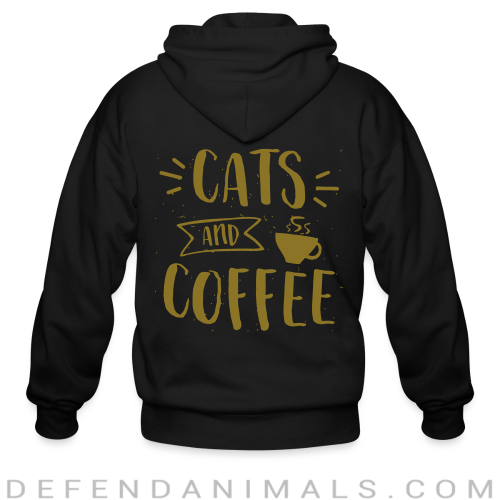 Cats and coffee - Cats Lovers Zip hoodie