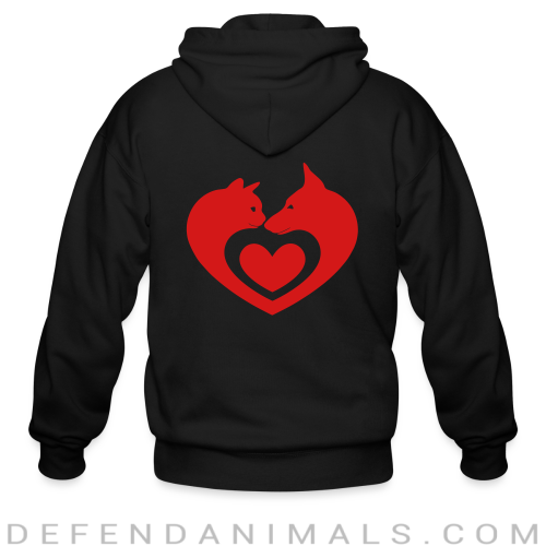 Cats and Dog  - Cats Lovers Zip hoodie