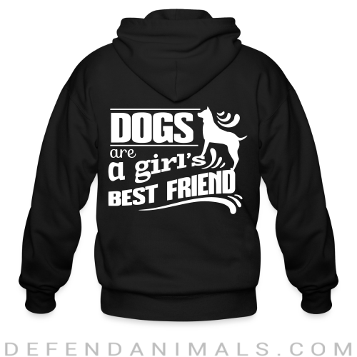 Dogs are a girl's best friend - Dogs Lovers Zip hoodie