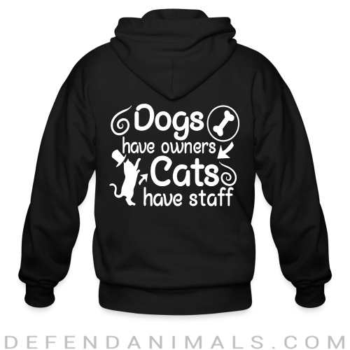 dogs have owners cats have staff - Dogs Lovers Zip hoodie