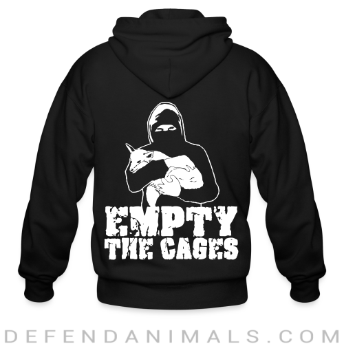Empty the cages - Animal Rights Activism Zip hoodie