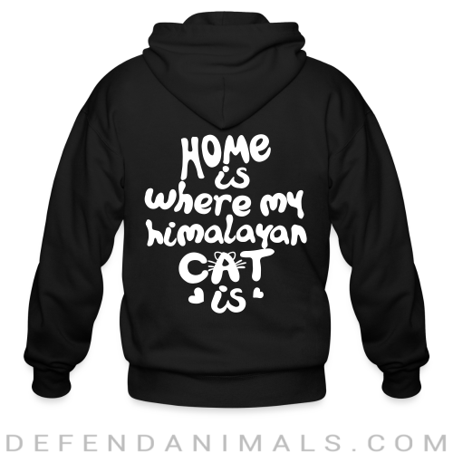 Home is where my himalayan cat is - Cat Breeds Zip hoodie