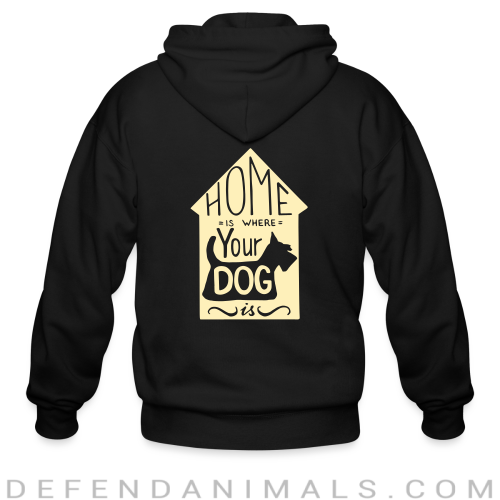 Homme is where your dog  - Dogs Lovers Zip hoodie