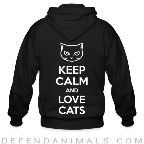 Keep calm and love cats  - Cats Lovers Zip hoodie