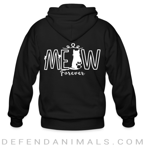 meow forever  - Cats Lovers Zip hoodie
