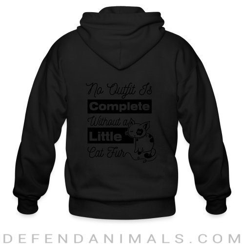 no outfit is complete with out littlw cat fur  - Cats Lovers Zip hoodie