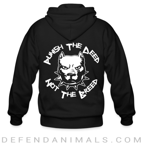Punish the deed not the breed - Dogs Lovers Zip hoodie
