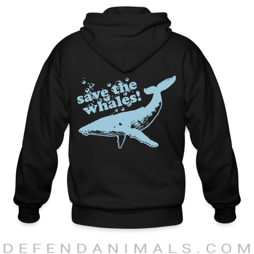 Save the whales - Animal Rights Activism Zip hoodie