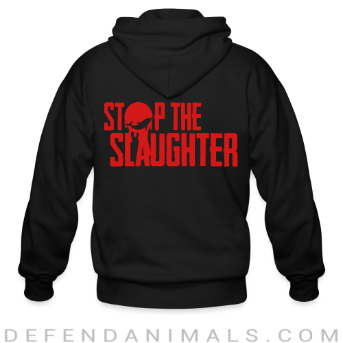 Stop the slaughter - Animal Rights Activism Zip hoodie