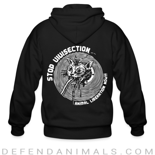 Stop vivisection - animal liberation now!!! - Animal Rights Activism Zip hoodie