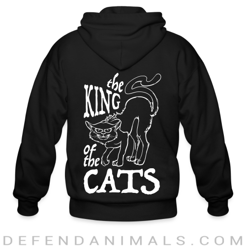 The king of the cats  - Cats Lovers Zip hoodie