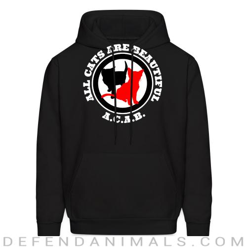 A.C.A.B. All Cats Are Beautiful - Cats Lovers Hooded sweatshirt