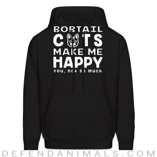 Bobtail cats make me happy. You, not so much. - Cat Breeds Hooded sweatshirt