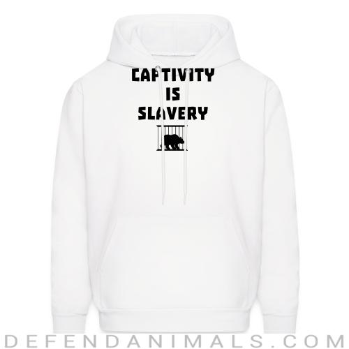 Captivity is slavery - Animal Rights Activism Hooded sweatshirt