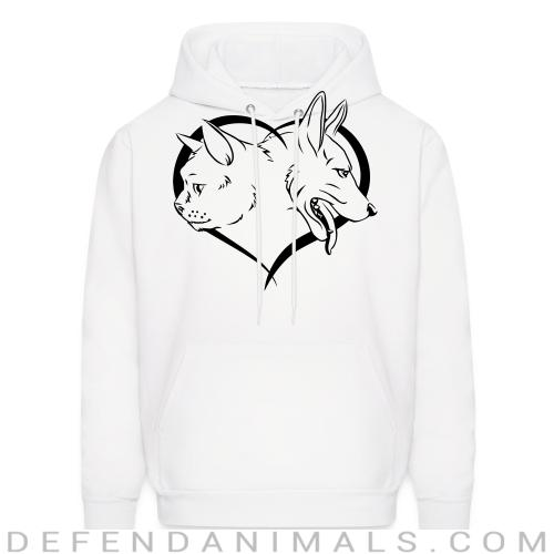 Cat and Dog - Cats Lovers Hooded sweatshirt