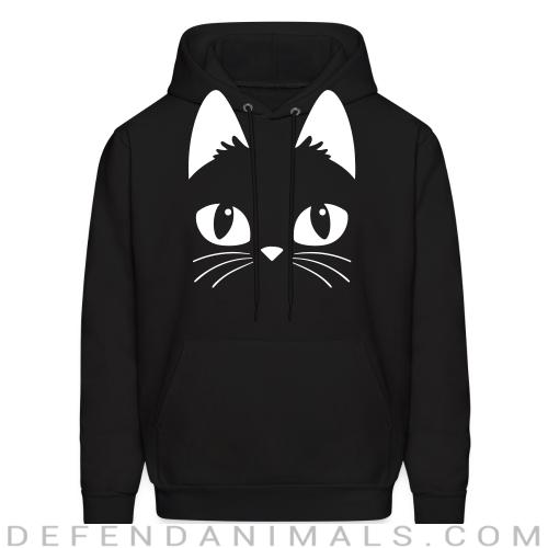 cat face  - Cats Lovers Hooded sweatshirt