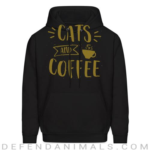 Cats and coffee - Cats Lovers Hooded sweatshirt