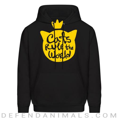 Cats rule the world - Cats Lovers Hooded sweatshirt