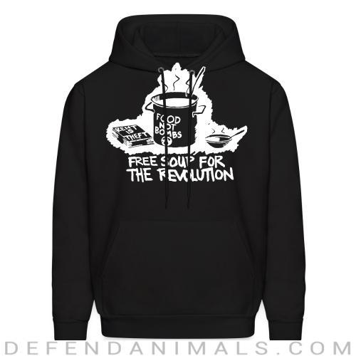 Food not bombs - free soup for the revolution - Vegan Hooded sweatshirt
