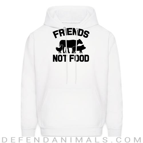 Friends not food - Animal Rights Activism Hooded sweatshirt