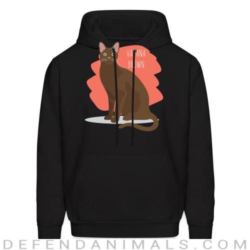 Havana Brown Cat - Cat Breeds Hooded sweatshirt