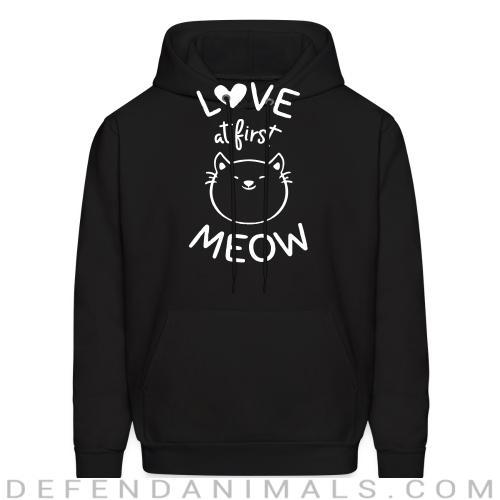 Love at first meow  - Cats Lovers Hooded sweatshirt