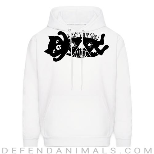 Make your own magic  - Cats Lovers Hooded sweatshirt