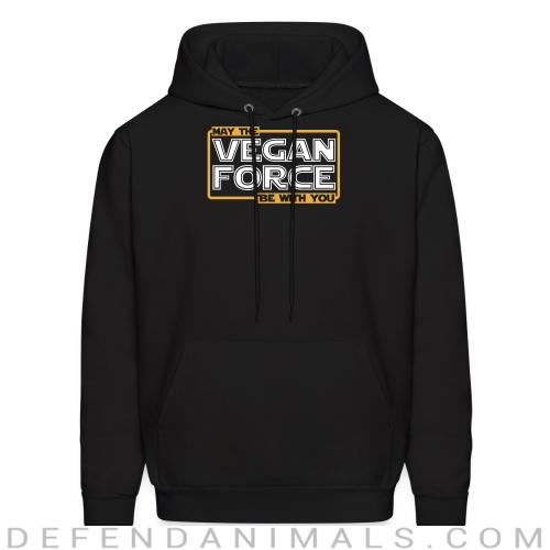 May the vegan force be with you - Vegan Hooded sweatshirt