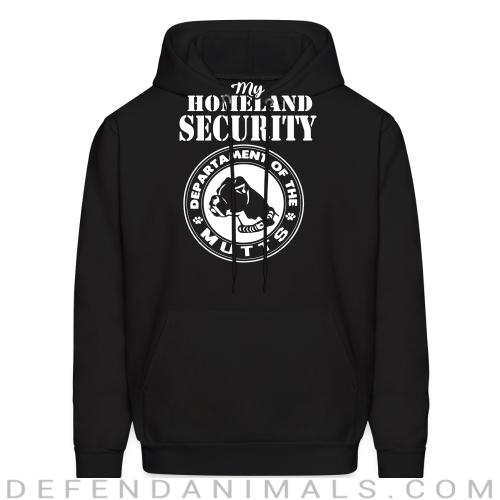 My homeland security. Departament of the mutts - Dogs Lovers Hooded sweatshirt