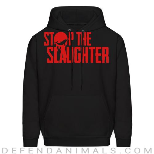 Stop the slaughter - Animal Rights Activism Hooded sweatshirt