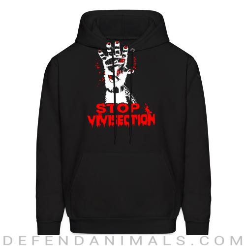Stop vivisection - Animal Rights Activism Hooded sweatshirt
